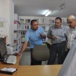 زيارة للمكتبة المركزية بجامعة غزة